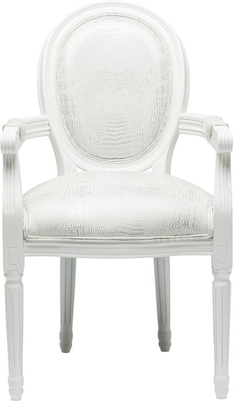 Stuhl mit armlehne gastro louis white kare design kaufen for Kare design stuhl louis